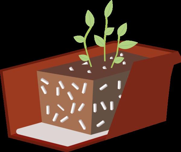 Almacenamiento de agua para las plantas